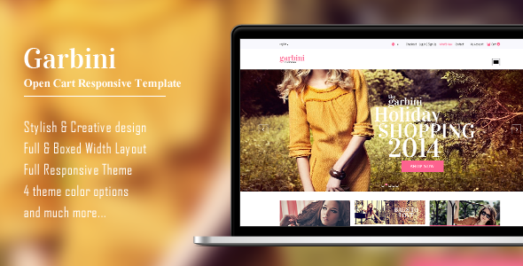 Garbini Stylish Opencart Responsive Theme