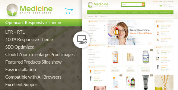 Medicine Opencart Responsive Template