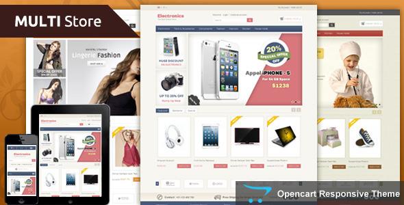 Multi Store Opencart Responsive Theme