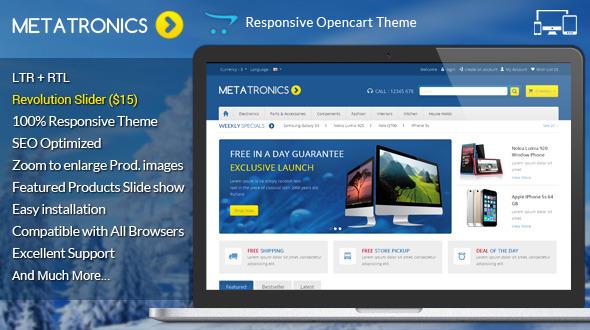 Meta Tronics Opencart Responsive Theme