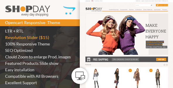 Shopday Opencart Responsive Theme