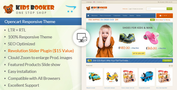Kids Bookers Opencart Responsive Theme