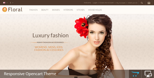 Floral Opencart Responsive Template