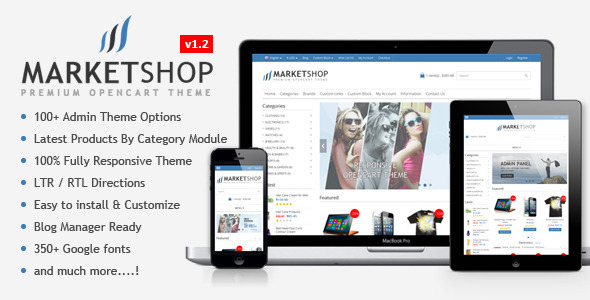 Marketshop Multipurpose Premium Opencart Theme