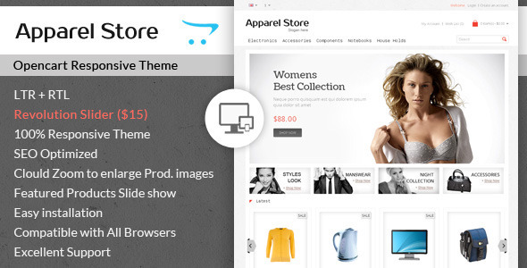 Apparel Clothes Opencart Theme