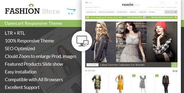 Fashion Store Responsive Opencart Theme