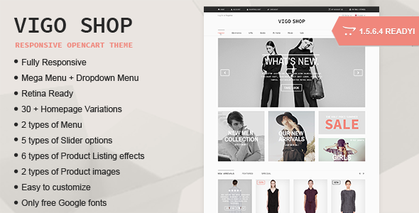 Vigo Shop Responsive Multipurpose Opencart Theme