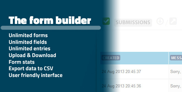 The Form Builder Data Management System CRM