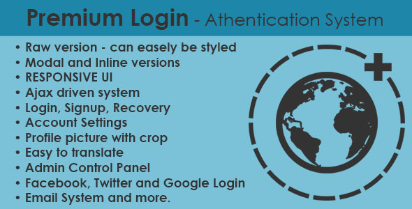 Premium Login Authentication System