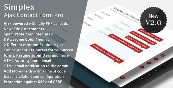 Simplex Ajax Contact Form Pro