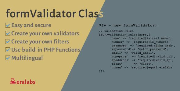 Form Validator & Filter Class