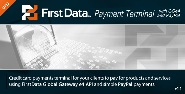 FirstData GGe4 Payment Terminal