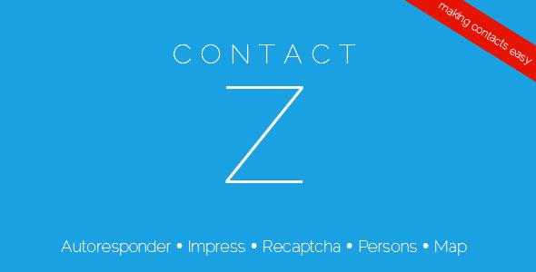 ContactZ Impress and Contact Form