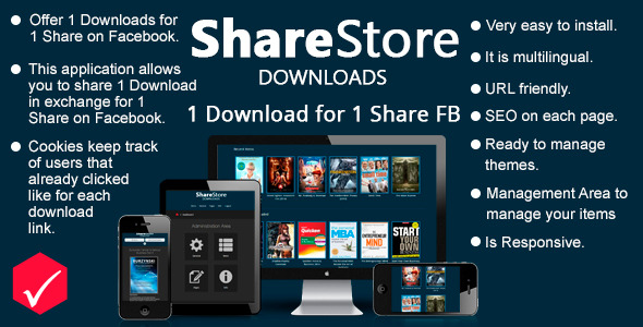 Share Store Downloads 1 Download for 1 Share FB