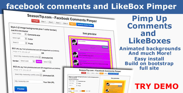 Facebook Comments and LikeBox Pimper
