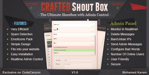 Crafted Live Shoutbox