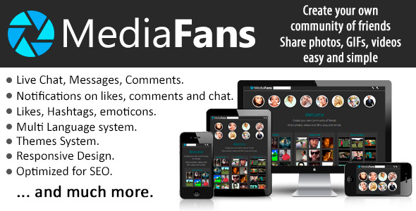 MediaFans Share photos, GIFs and videos