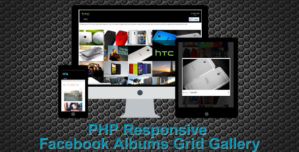 PHP Responsive Facebook Albums Grid Gallery
