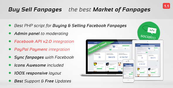 Buy Sell Fanpages, Facebook Market