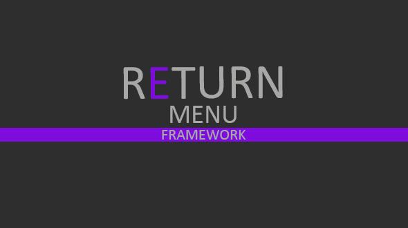 Return Menu Framework - Css Navigation & Menu Design