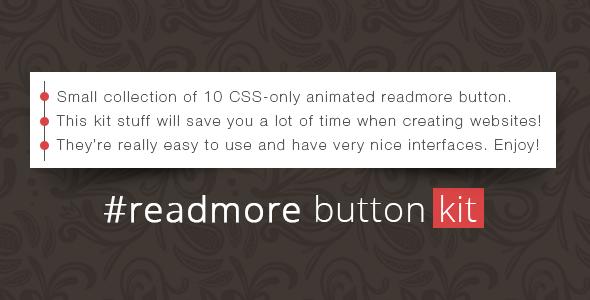 Readmore Button Kit - Css Buttons Design