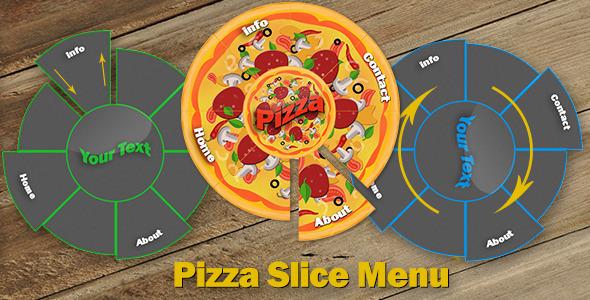 Pizza Slice Menu - Css Navigation & Menu Design