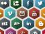 Free PSD Hexagonal Social Media Icons | social icons | social media icons