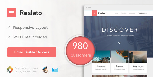 Resalto email template