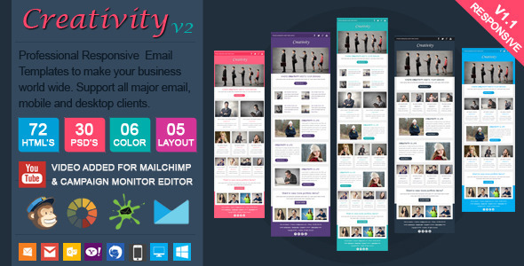 Creativity2 email template