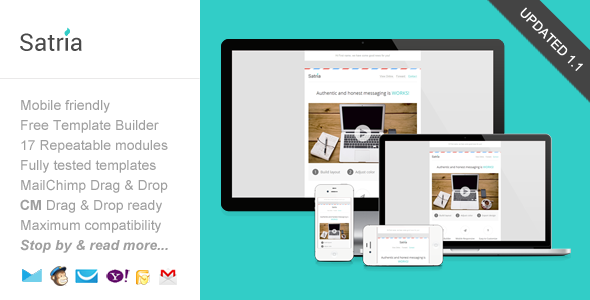 Satria, email template