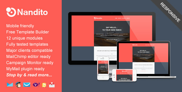 Nandito, email template