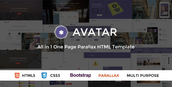 Avatar html gallery template