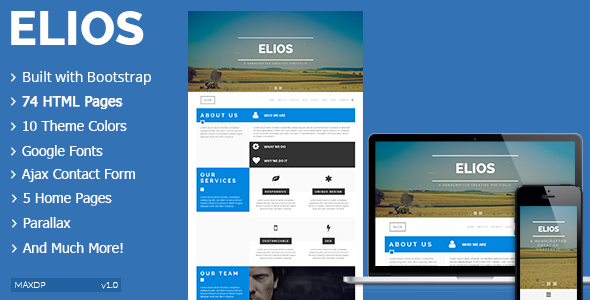 Elios html gallery template