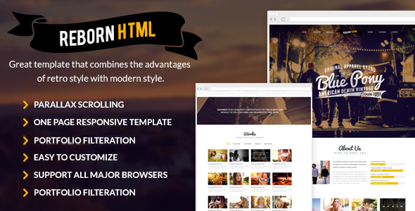 Reborn retro html gallery template