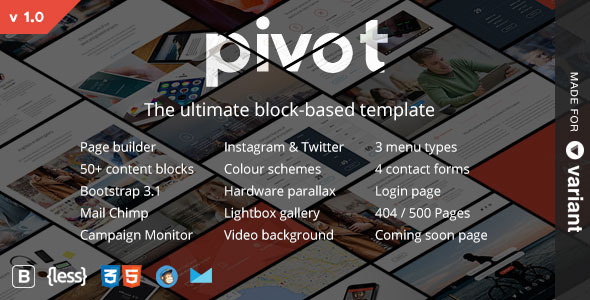 Pivot | multi html gallery template