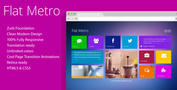 Flat metro html gallery template