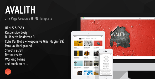 Avalith html gallery template