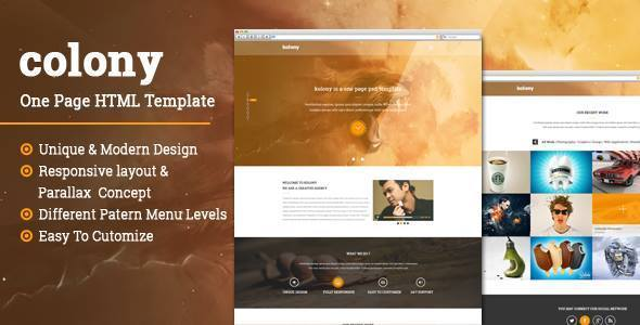 Colony html gallery template