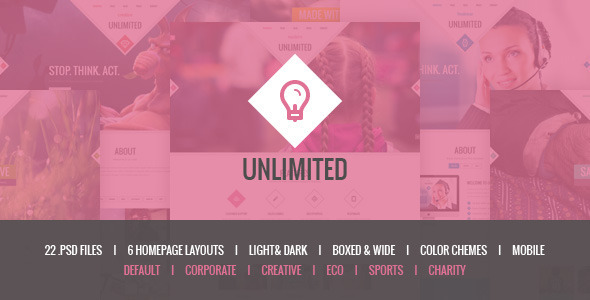 Unlimited psd template