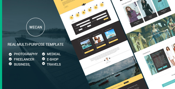 Wecan psd portfolio template