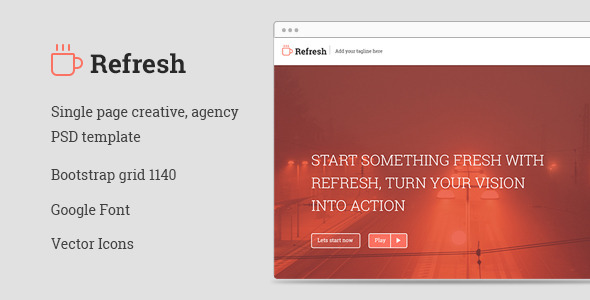 Refresh psd portfolio template