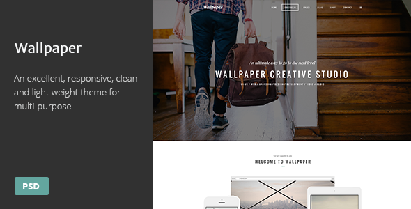 Wallpaper psd template