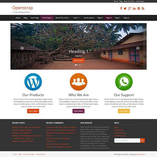 freebie  openstrap wordpress theme