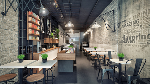 Design interior coffee shop