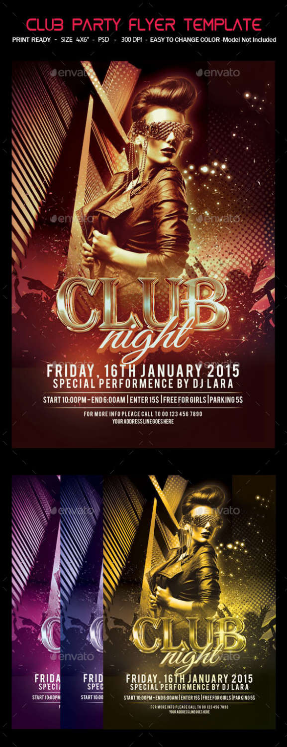 best party flyer psd templates xdesigns club party flyer template