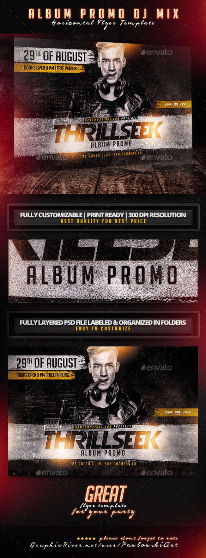 best party flyer psd templates xdesigns album promo dj mix horizontal flyer template