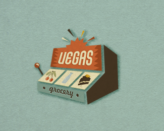 vegas grocery retro logo