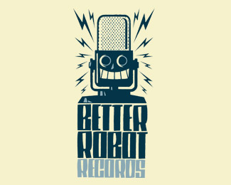 better robot records retro logo