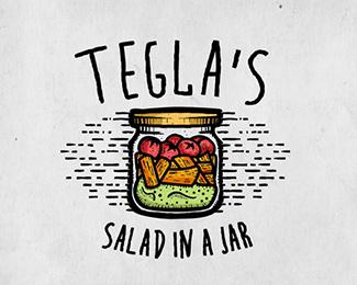 tegla's retro logo