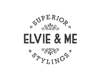 elvie and me retro logo